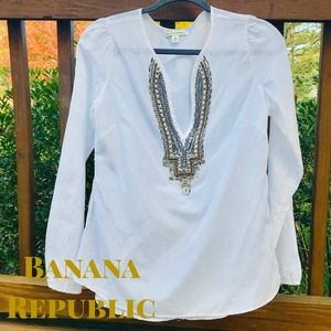 Like NEW Banana Republic Boho Silk & Cotton Tunic
